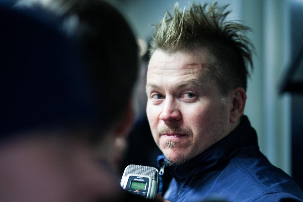 Petteri Nummelin oli tyytyväinen joukkueensa esitykseen. Kuva Niko Karumaa