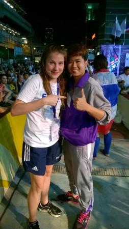 Siiri ja hänet sekä -51kg sarjan voittaja Hanphan Rattanaphon